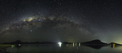 The Milky Way from Moogerah (josselin.berger) Tags: milky way voie lactee lake moogerah night sky dark new moon camping park mountains pentax k30 panorama landscape