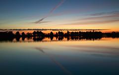 Colores al amanecer (pascual 53) Tags: 5ds canon 1635mm corella navarra amanecer colores reflejos laguna arboles estelas paisaje