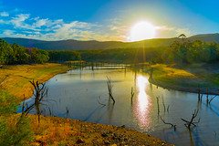 Sunset over a backwater of Lake Nillahcootie, Victoria (Peter.Stokes) Tags: australia australian colour landscapes landscape nature outdoors photo vacations sky photography water sunset lake lakenillahcootie victoria