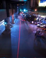 赤い糸 (Blue Nozomi) Tags: 赤い糸 red string fate light streak traffic manila philippines road street