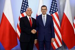 Spotkanie z wiceprezydentem USA Michaelem Pence'em (Kancelaria Premiera) Tags: premier mateuszmorawiecki michaelpence pence usa kprm