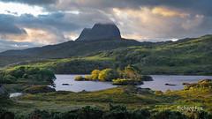 Glanced (http://www.richardfoxphotography.com) Tags: lochdruimsuardalain assynt scottishhighlands scotland panorama sunrise loch water sky