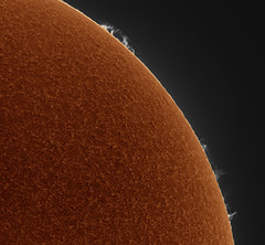 20190902 09-35UT Prominence (Roger Hutchinson) Tags: sun london prominence lunt luntls60tha zwo televue powermate asi174mm astronomy astrophotography space