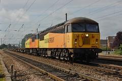 Double Headed Colas (paul_braybrook) Tags: class56 colas diesel copmanthorpe york northyorkshire railway trains