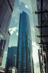 Very high (vasic.vaskee) Tags: tall building moscow moscowcity bluevibe blue clouds