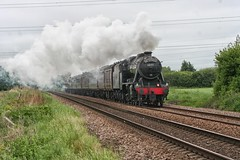 Black 8 approaching Towthorpe (Yorkie Jonathan) Tags: uksteam stanier 8f 48151 280 black8 towthorpe scarboroughspaexpress sse