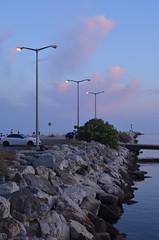 Lanterns (alia.chikha) Tags: lanterns blue pink sky cottoncandy sunset nature rocks molo europe algarve faro vilamoura albufeira portugal summer