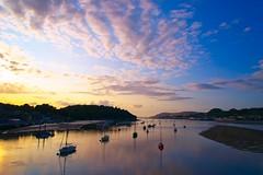 Conwy Harbor (Jim Nix / Nomadic Pursuits) Tags: jimnix travel unitedkingdom uk wales conwy harbor sailboat sunset golden hour on1 sonya7ii 2470mm buoyant