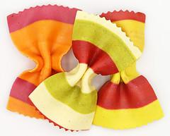 Multicolor Farfalle Pasta (Through Serena's Lens) Tags: macromondays pasta italian multicolored macro colorful green red orange yellow food canoneos6dmarkii farfalle stilllife