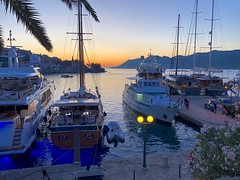 Dalmatia Sunset (armct) Tags: island port sheen shimmer serene calm horizon skyline haven sea reflection nightlights sunset dalmatia coast korcula croatia harbour yacht boats evening