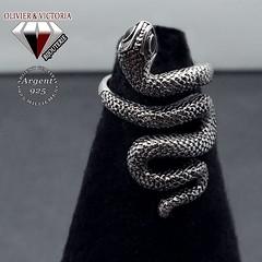 Bague serpent ajustable en argent (olivier_victoria) Tags: argent 925 mystique bague ajustable unique taille serpent