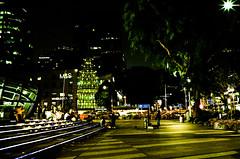 Orchard Road afterdark (Thanathip Moolvong) Tags: nikon s3 voigtlander 35mm fujicolor c200 netgative film f25