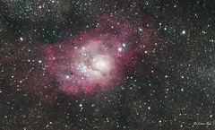 M8 - The Lagoon Nebula in RGB (|_eon|_ee) Tags: astronomy astrophotography space nightsky nebula deepspace astrometrydotnet:id=nova3614448 astrometrydotnet:status=solved
