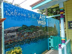 Roatan-WestTown-ArtWalk (lelizard) Tags: cruise ncl breakaway westerncaribbean roatan honduras westtown shopping art sign walk town port