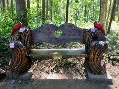 Oregon Ridge Park (karma (Karen)) Tags: cockeysville maryland oregonridgepark woods trails benches carvedwood hbm iphone