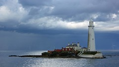 Living on an island (WISEBUYS21) Tags: panorama dark skies sky cloudy clouds storm rain moody flat still white lighthouse light house st marys island causway whitleybay northeastofengland northumberland northumbria north tyneside sea whitley coast coastal cold wreck warning fog horn wisebuys21 1st september 2019 overcast bait favourite mine seaside seascape grey england water car rock rocks seal seals