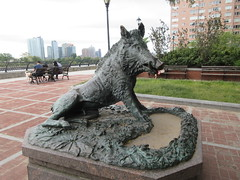 Happy 2019 Year of the Wild Boar statue East 57th St 9907 (Brechtbug) Tags: happy 2019 year wild boar statue replica bronze porcellino completed 1634 by renaissance sculptor pietro tacca 1557 1640 the original is marble housed uffizi gallery florence italy this dude sits off sutton place park east 57th street next river all done with renovations nyc 09022019 new york city