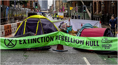 Representing Hull (Fermat 48) Tags: extinctionrebellion manchester deansgate hull campsite tents police demonstration trafficcones poorturnout canon eos camera 7dmarkii johnrylandslibrary