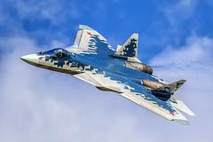 Su-57 (T-50-4) (RealHokum) Tags: russianairforce ef200400 zhukovsky airshow aircraft airplane aviasalon aviation maks2019 sukhoi su57 pakfa t50 t504 fighter