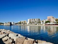 Toulon (sander_sloots) Tags: france toulon coast beach frankrijk blue sky dctz90 lumix panasonic provence alpes côte dazur mediterranean sea middellandse zee kust architecture buildings architectuur badplaats palm tree palmbomen