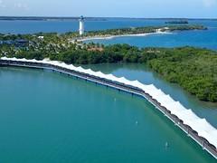 Belize-HarvestCaye2 (lelizard) Tags: cruise ncl breakaway caribbean westerncaribbean belize harvestcaye port island dock lighthouse