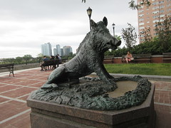 Happy 2019 Year of the Wild Boar statue East 57th St 9909 (Brechtbug) Tags: happy 2019 year wild boar statue replica bronze porcellino completed 1634 by renaissance sculptor pietro tacca 1557 1640 the original is marble housed uffizi gallery florence italy this dude sits off sutton place park east 57th street next river all done with renovations nyc 09022019 new york city