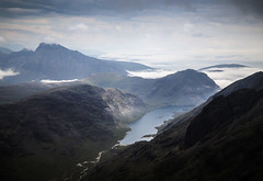 Loch Coruisk From The Ridge (Russell-Davies) Tags: skye ridge cuillin landscape loch lochcoruisk isleofskye munro blabheinn cuillinridge blackcuillin highlands nature river uk scotland canon 6dmkii
