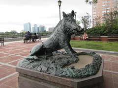 Happy 2019 Year of the Wild Boar statue East 57th St 9908 (Brechtbug) Tags: happy 2019 year wild boar statue replica bronze porcellino completed 1634 by renaissance sculptor pietro tacca 1557 1640 the original is marble housed uffizi gallery florence italy this dude sits off sutton place park east 57th street next river all done with renovations nyc 09022019 new york city