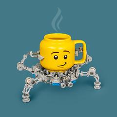 Mech Monday #35: Cuphead 3000 (roΙΙi) Tags: mechmonday mech coffee cup lego moc afol