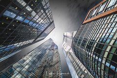 City Heights (Nathan J Hammonds) Tags: london city architecture cityscape town capital uk buildings wide angle long exposure 15mm nikon d850 10stop glass reflaction lines leaning colour upwards tall