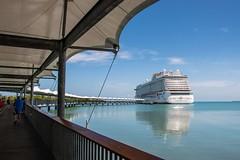 Belize-HarvestCaye-shipdock2 (lelizard) Tags: cruise ncl breakaway caribbean westerncaribbean belize harvestcaye port ship dock