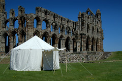 Whitby Abbey and tent (Tony Worrall) Tags: yorkshire yorks scene scenery northyorkshire resort yorkshirephotos east eastern seasidetown holidays tourists coast photographsofwhitby whitbyphotos whitby north update place location uk england visit area attraction open stream tour country item greatbritain britain english british gb capture buy stock sell sale outside outdoors caught photo shoot shot picture captured ilobsterit instragram whitbyabbey ruins historic church tent englishheritage