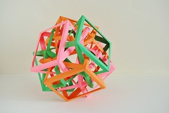 Three Interlocking Irregular Crossed Square Antiprisms (Byriah Loper) (Byriah Loper) Tags: origami origamimodular modularorigami modular byriahloper byriah paperfolding paper polygon polyhedron square