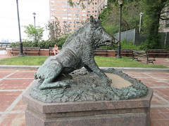Happy 2019 Year of the Wild Boar statue East 57th St 9905 (Brechtbug) Tags: happy 2019 year wild boar statue replica bronze porcellino completed 1634 by renaissance sculptor pietro tacca 1557 1640 the original is marble housed uffizi gallery florence italy this dude sits off sutton place park east 57th street next river all done with renovations nyc 09022019 new york city