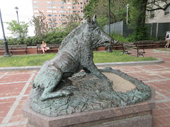 Happy 2019 Year of the Wild Boar statue East 57th St 9904 (Brechtbug) Tags: happy 2019 year wild boar statue replica bronze porcellino completed 1634 by renaissance sculptor pietro tacca 1557 1640 the original is marble housed uffizi gallery florence italy this dude sits off sutton place park east 57th street next river all done with renovations nyc 09022019 new york city