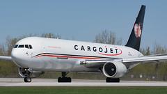 Shiny CargoJet (Ben_Senior) Tags: ottawa ontario canada yow cyow ottawaairport ottawamcdonaldcartierairport ottawainternationalairport planespotting bensenior airline airliner aircraft airplane plane aviation cargojet boeing 767 b767 763 b763 767300er b767300er 767f b767f freighter cargo cf6 widebody runway threshold takeoff