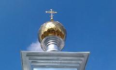 11. Поднятие купола с крестом в с. Никольское 15.04.2014