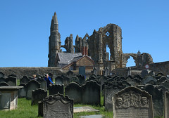 Whitby Abbey and graveyard (Tony Worrall) Tags: yorkshire yorks scene scenery northyorkshire resort yorkshirephotos east eastern seasidetown holidays tourists coast photographsofwhitby whitbyphotos whitby north update place location uk england visit area attraction open stream tour country item greatbritain britain english british gb capture buy stock sell sale outside outdoors caught photo shoot shot picture captured ilobsterit instragram whitbyabbey ruins historic church gravestones graveyard tomb stone englishheritage