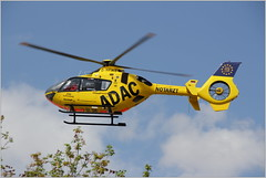 """Airbus Helicopters H135 """"ADAC-Luftrettung in Christioph 61"""" (D-HPMM) over Halle/Saale (gynti_46) Tags: heki hubscrauber notarzt dhpmm airbus helicopters h135 adacluftrettung christioph61 hallesaale start"""