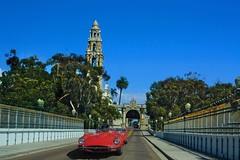San Diego Balboa Park (oybay©) Tags: sandiego balboapark jaguar xke britishcar classiccar british classic car automobile barrettjackson autoauction scottsdale arizona red redcar headlamp headlight nemo findingnemo cars pixar