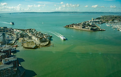 DSCN4645c Portsmouth Harbour entrance seen from Spinnaker Tower. 2nd September 2019 (Paul Ealing 2011) Tags: portsmouth harbour entrance spinnaker tower 2 september 2019 fast ferry isle wight