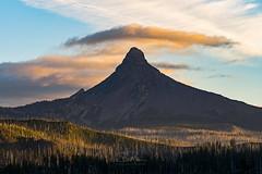 Mount Washington Sunset (TierraCosmos) Tags: mountwashington mountain sunset forest clouds colorfulsunset landscape cascades cascaderange oregoncascades oregon