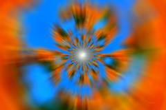 Déchirure spatio temporelle - Temporal space tear (EmArt baudry) Tags: art artnumérique abstrait abstract digitalart orangeandblue bleuetorange espacetemps trounoir spacetime spacetrip cosmos universe blackhole troudever emart emmanuellebaudry