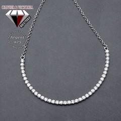 Bracelet chemin brillant en argent 925 (olivier_victoria) Tags: argent 925 zircon bracelet chaine brillant ajustable chemin scintillant