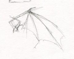 sc0674 (Josh Beck 77) Tags: traditional traditionalart pencil fantasy fantasycreature dragon wing dragonwing drawing sketch