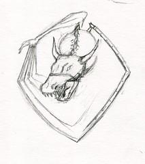 sc0673 (Josh Beck 77) Tags: traditional traditionalart pencil fantasy fantasycreature dragon shield drawing sketch