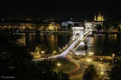Chain Bridge at night - Budapest (gergely.t.springer) Tags: budapest hungary magyarország timelaps longexposure capital bridge chain chainbridge river donau duna city night nikon d3500 jackaltripod