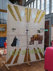Screen, St Andrew's church, Felixstowe (Granpic) Tags: suffolk suffolkchurch felixstowe felixstowechurch felixstowestandrew textiles embroidery
