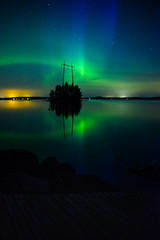 Northern Lights - Southern Finland (samujjwalsahu) Tags: aurora northernlights finland suomi sept southernfinland nikon nightphotography night sky stars