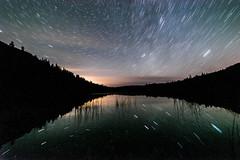 Blue Lake Star Trails (GR in Osoyoos) Tags: bluelake night stars milkyway astro sony rokinon okanagan canada scenic startrails
